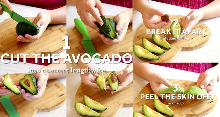 peel an avocado pear