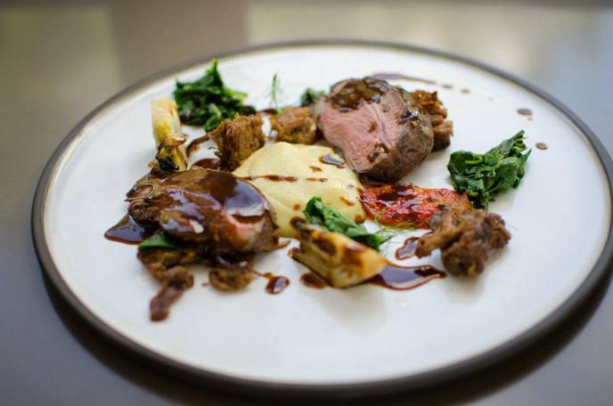 Slow roast lamb rump