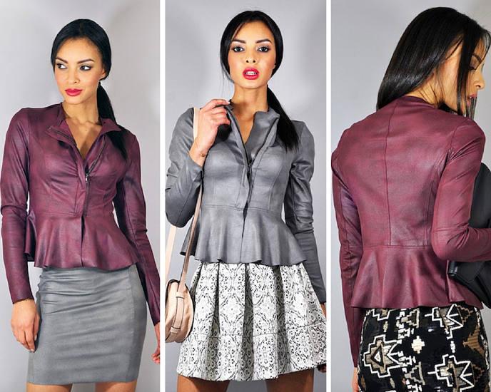 Eco leather jacket, Diane