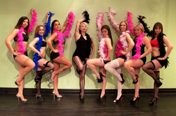 Cheeky Chicks Burlesque dancing