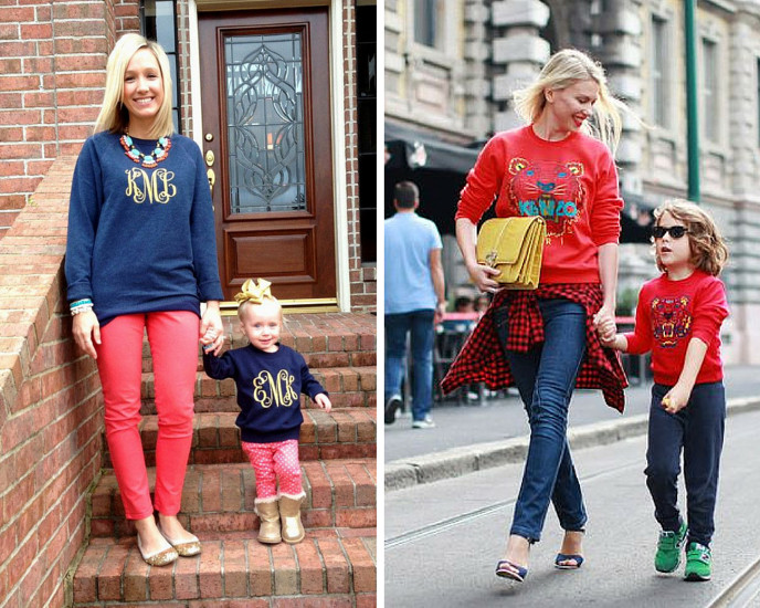 Mom and tot sweatshirts