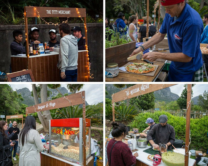 The food stalls at Kirstenbosch